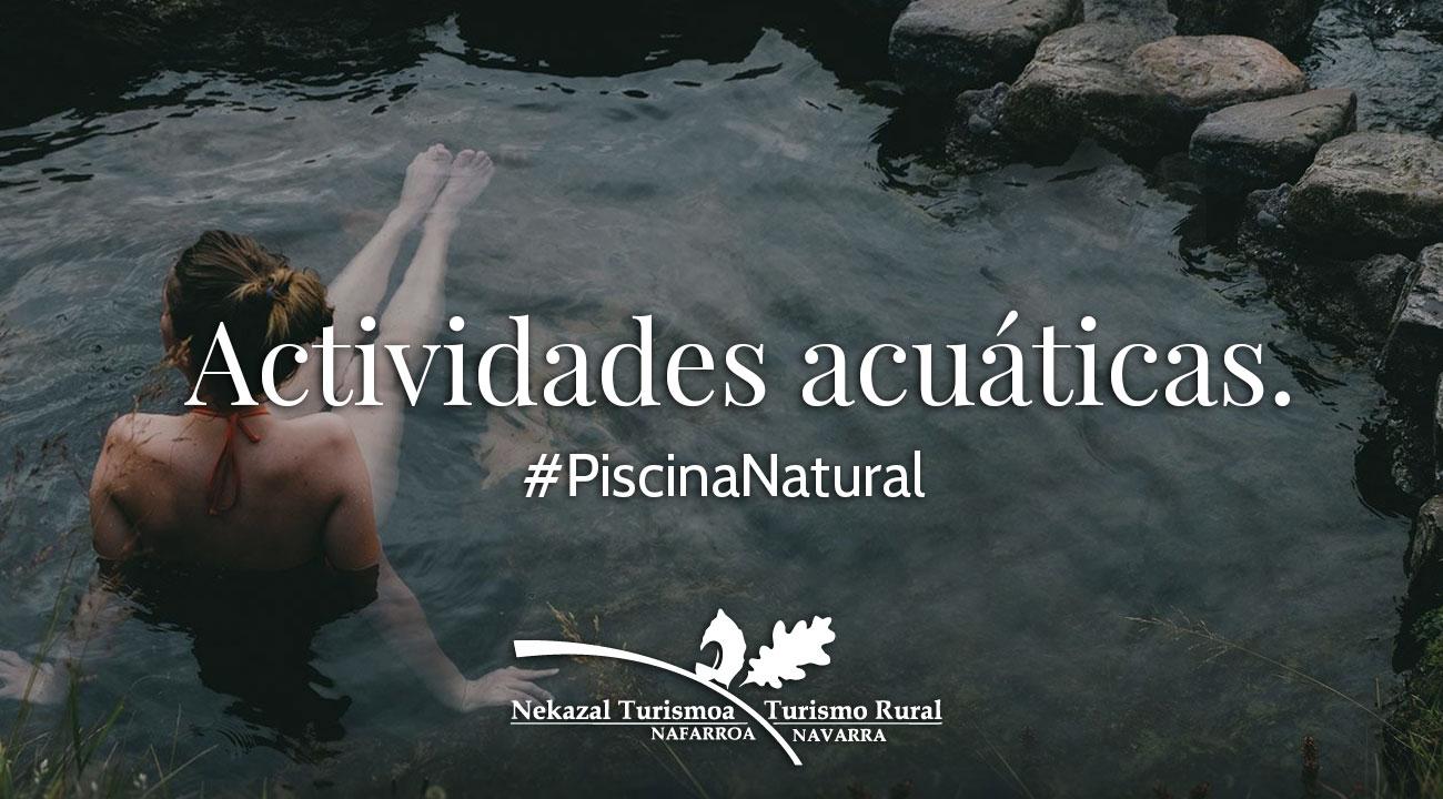 Piscinas naturales y pozas de agua para bañarse en verano en Navarra deportes de agua y excursiones en el norte de españa