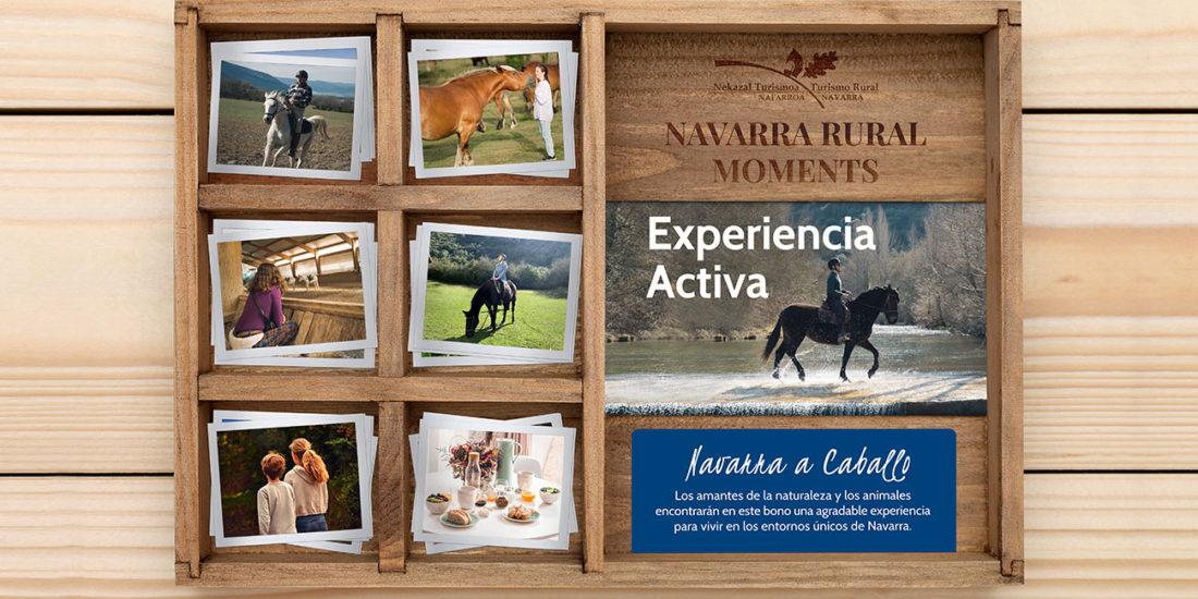 Deporte, naturaleza y actividades con animales practica hípica regala viajes y experiencias de navarra rural box rural moments wonder box caja regalo de viajes