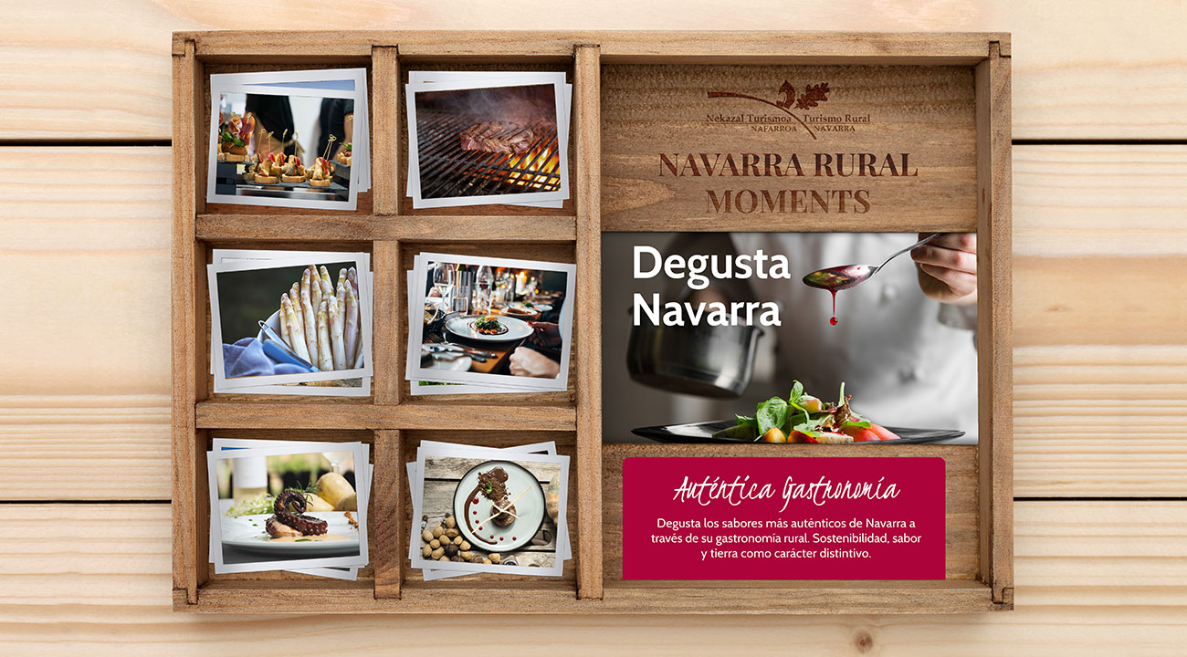 Gastronomía por Navarra regala viajes y experiencias en Navarra rural box wonder cajas regalo rural moments